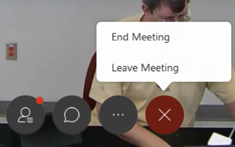 End Webex meeting