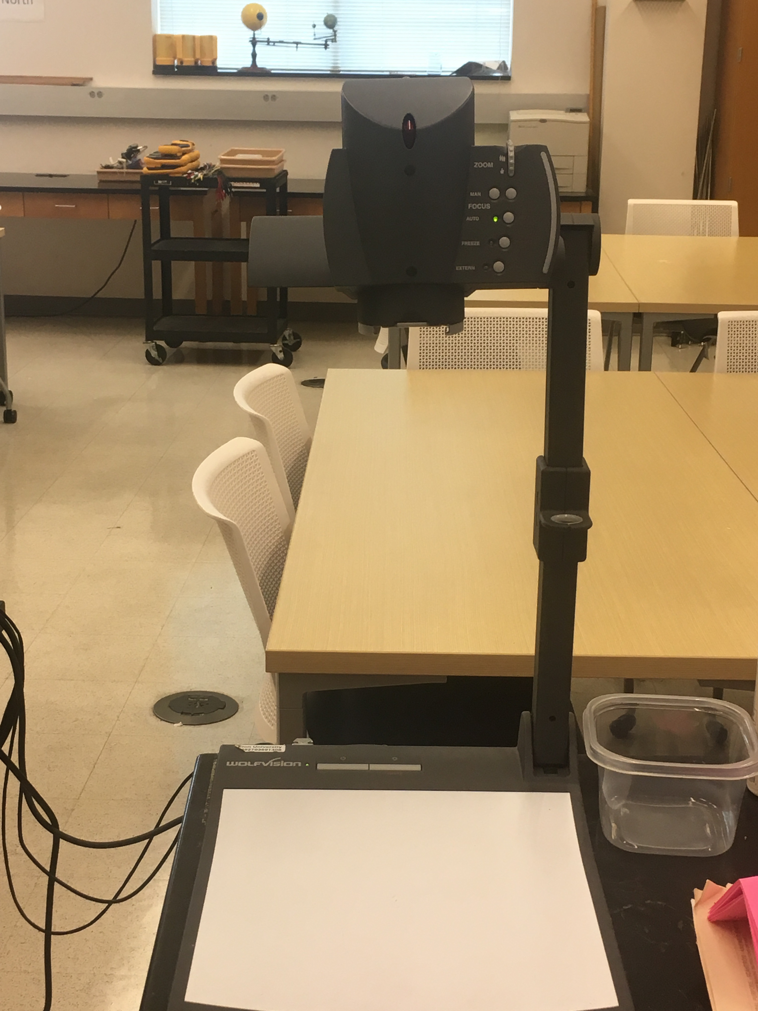 Photo of the document camera available in the space