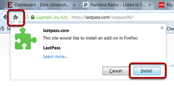 Image of install button, with the plugin icon and Install buttons circled.