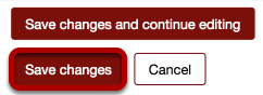 An image of the save changes button, which has been circled.