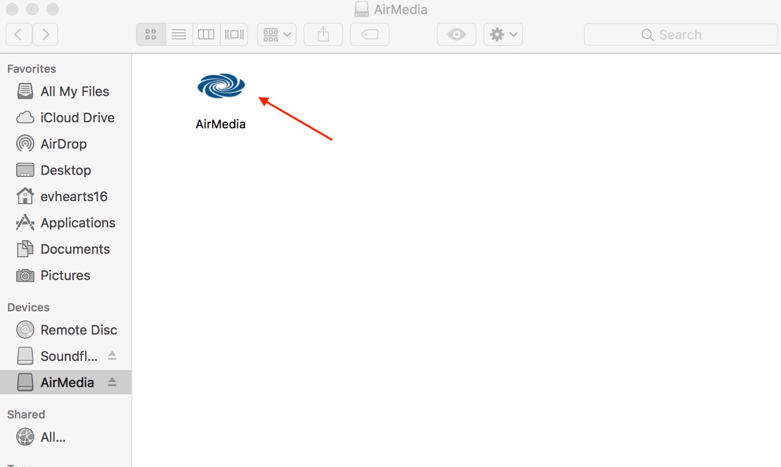Photo of AirMedia install icon