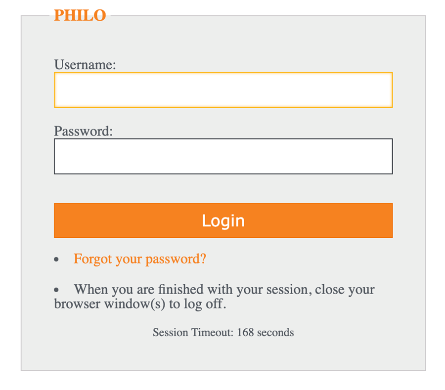 Screenshot of the HBO Max sign in screen for students with Philo Edu access