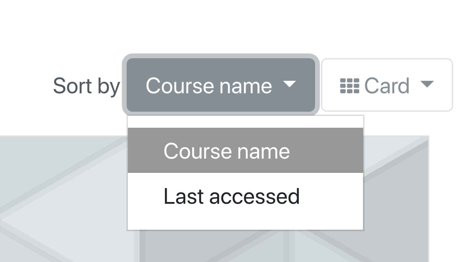 An image of sorting courses.