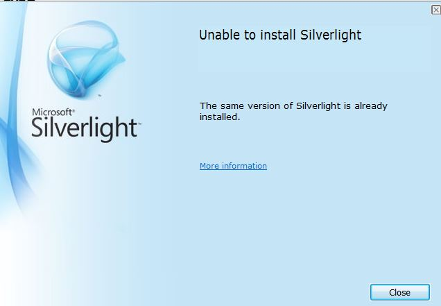 Another example of the Silverlight error in Firefox.