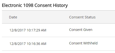 An image of the consent history.