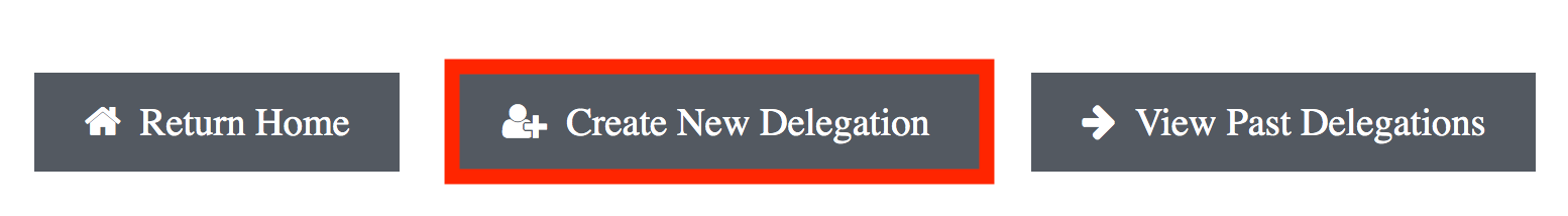 create new delegation button highlighted