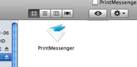 This is an image of the PrintMessenger icon you should double-click.