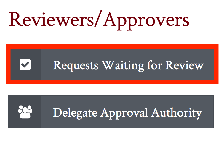 Requests Waiting for Review Button highlighted