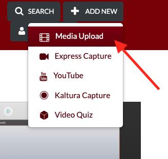 Media upload text box