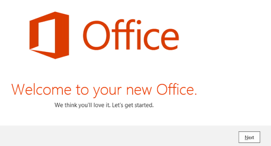An image of the office start screen.