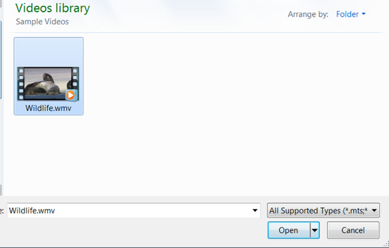 An image of the videos library.