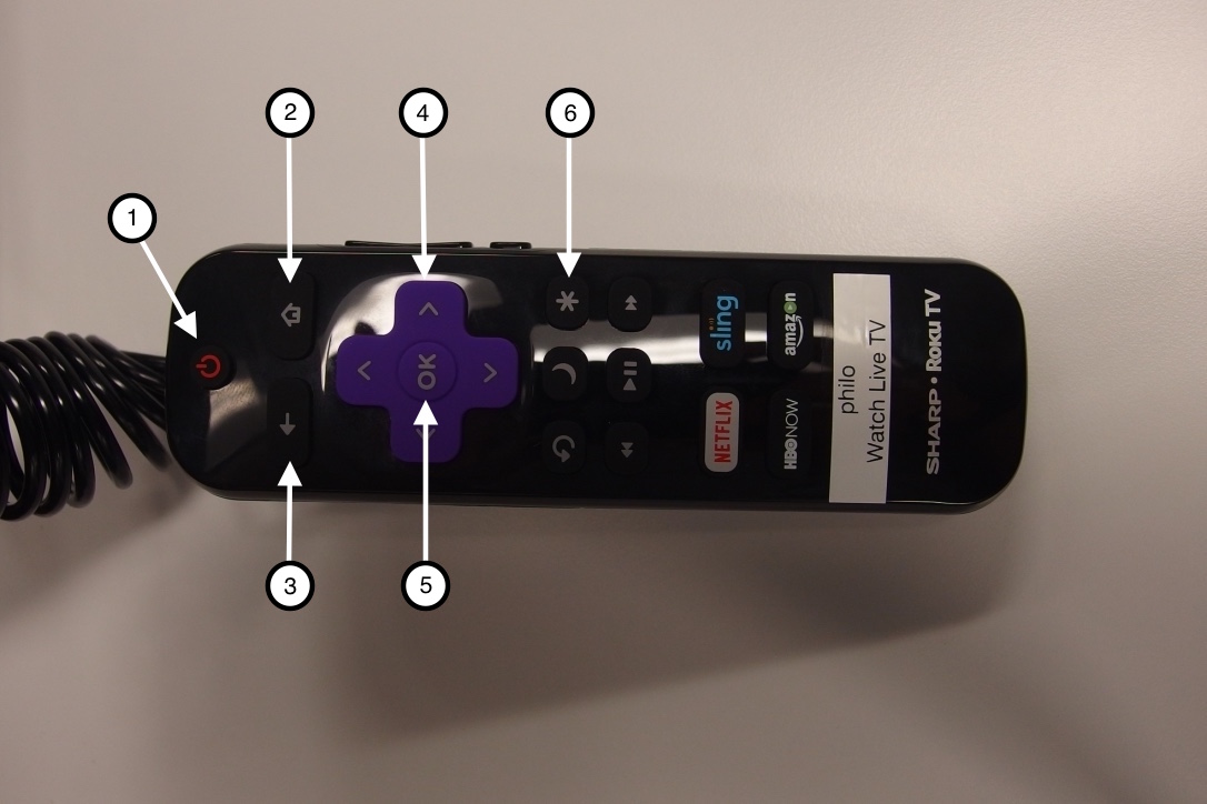 A photo of the tv remote control
