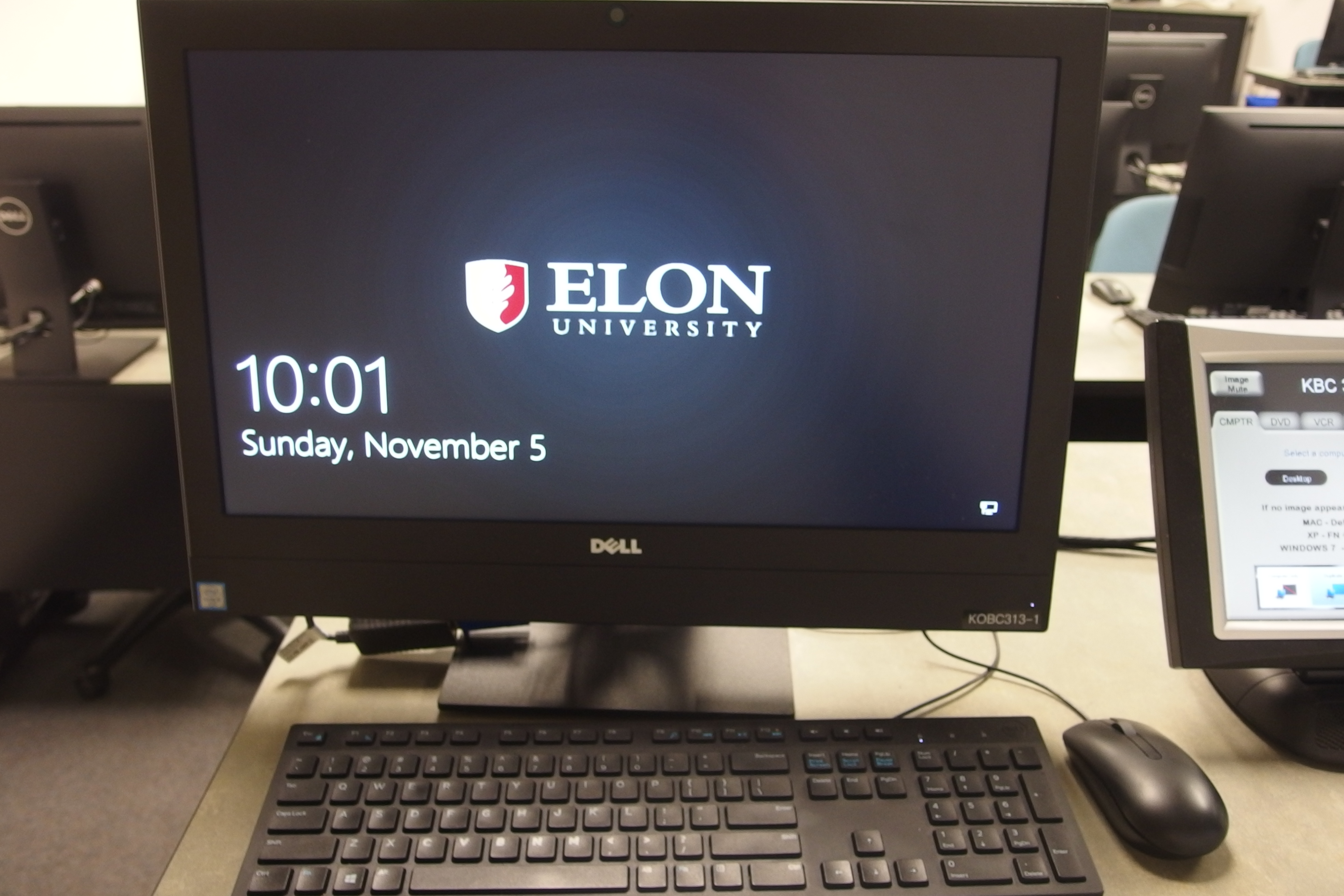 Photo of the desktop computer installed at the instructor's station
