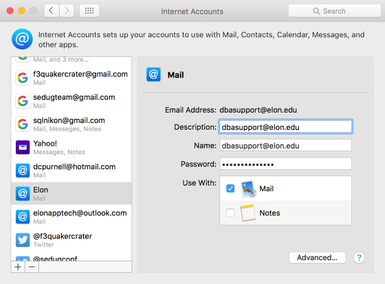 An example image of a configured shared mailbox.