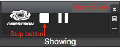 A photo that shows the stop button.