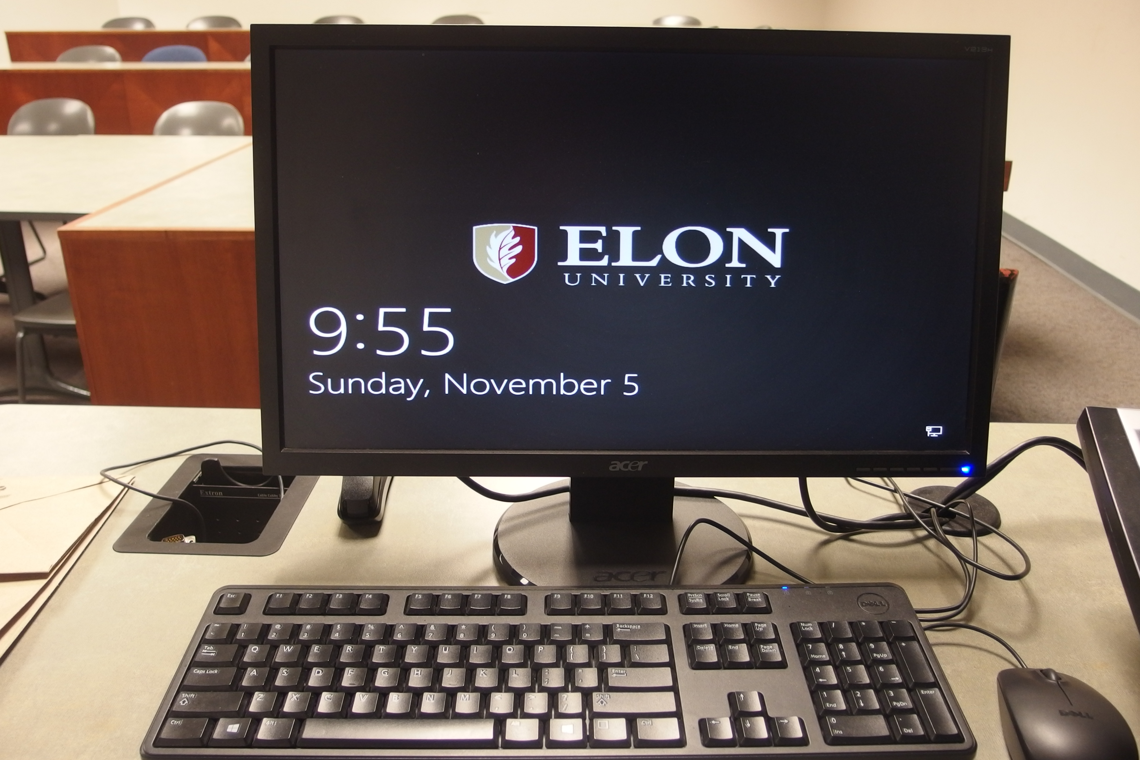 Photo of the dell computer installed at the instructor's station