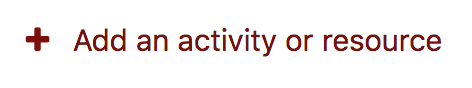add an activity or resource