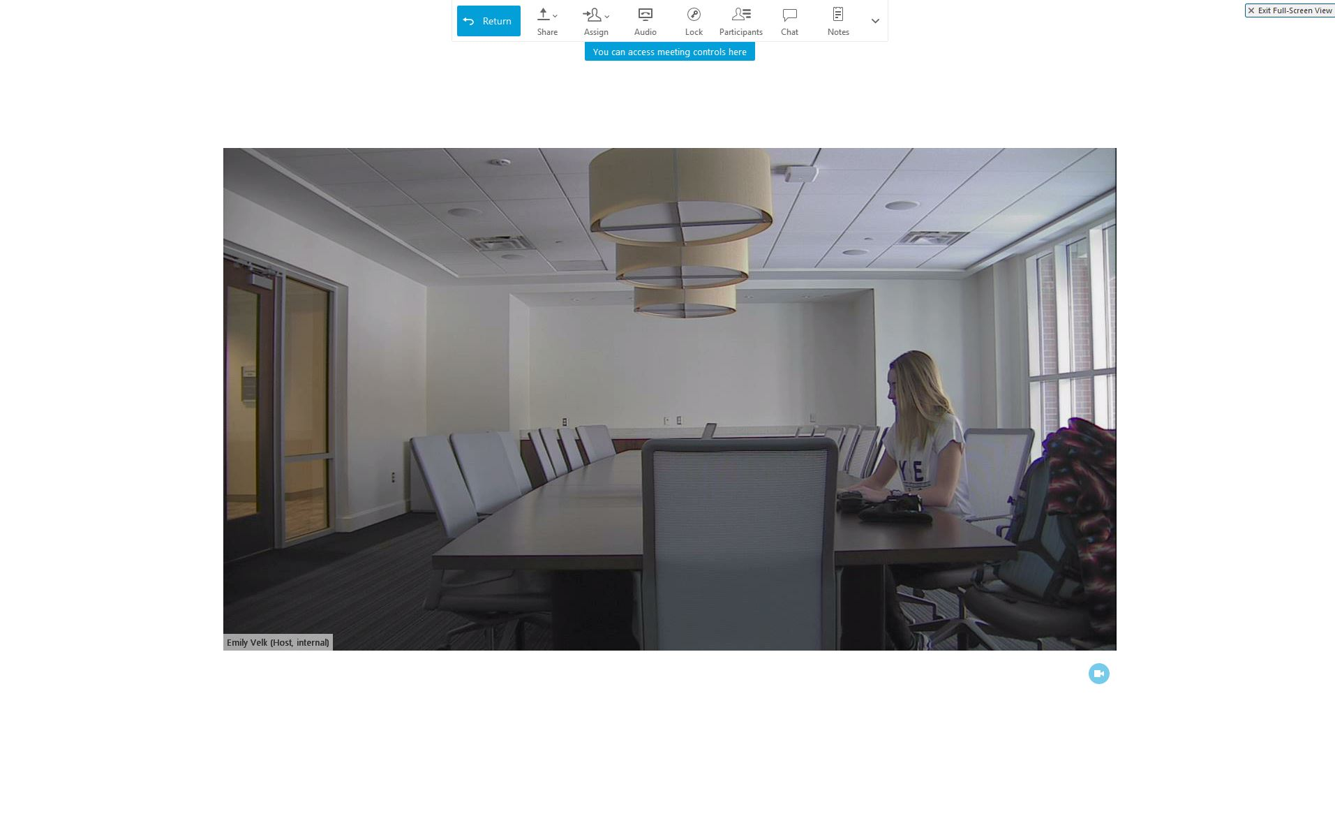 A photo showing the video window expanded