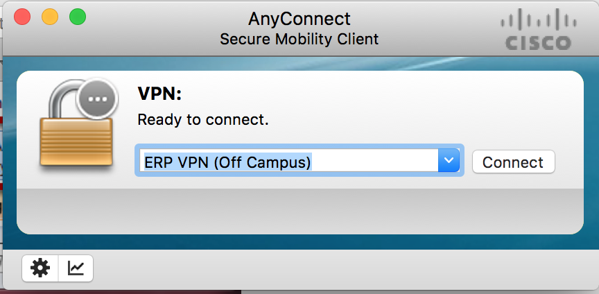 This is an image of the off-campus VPN profile