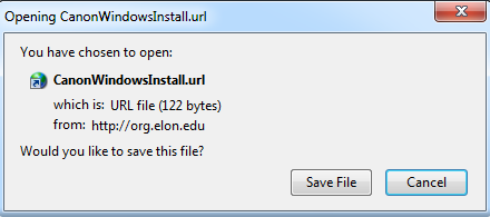 This is an image of the Canon Windows install file.