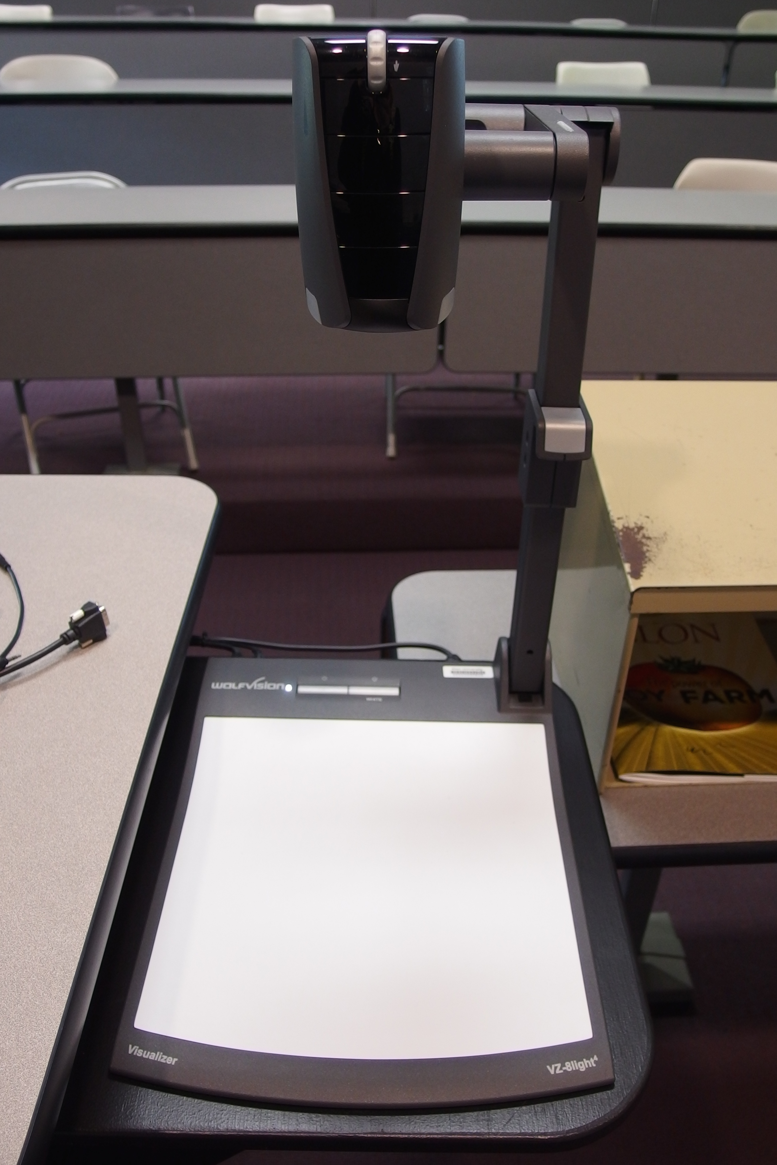 Photo of the WolfVision document camera available at the instructor's station