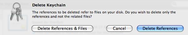 Click the button Delete References & Files