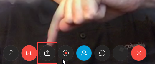 Share icon in the lower portion of the screen