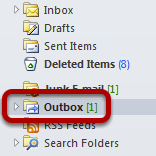 An image of the outbox location, circled.