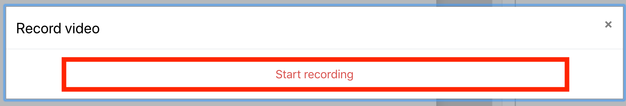 An image of the start recording button.