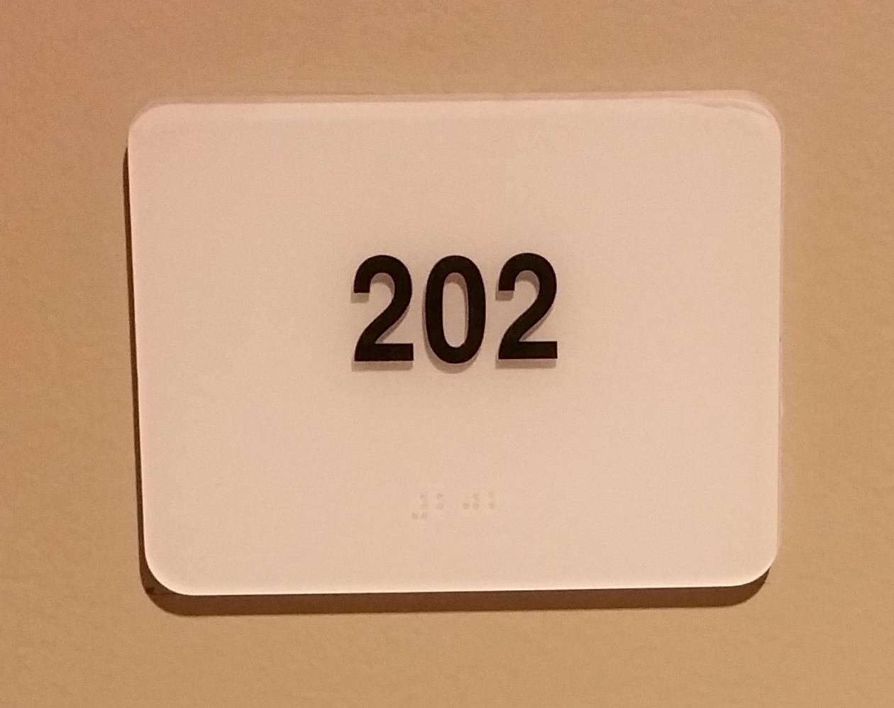 Photo of Lindner 202 room number