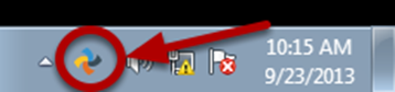 This image shows the Syncplicity icon in your toolbar.
