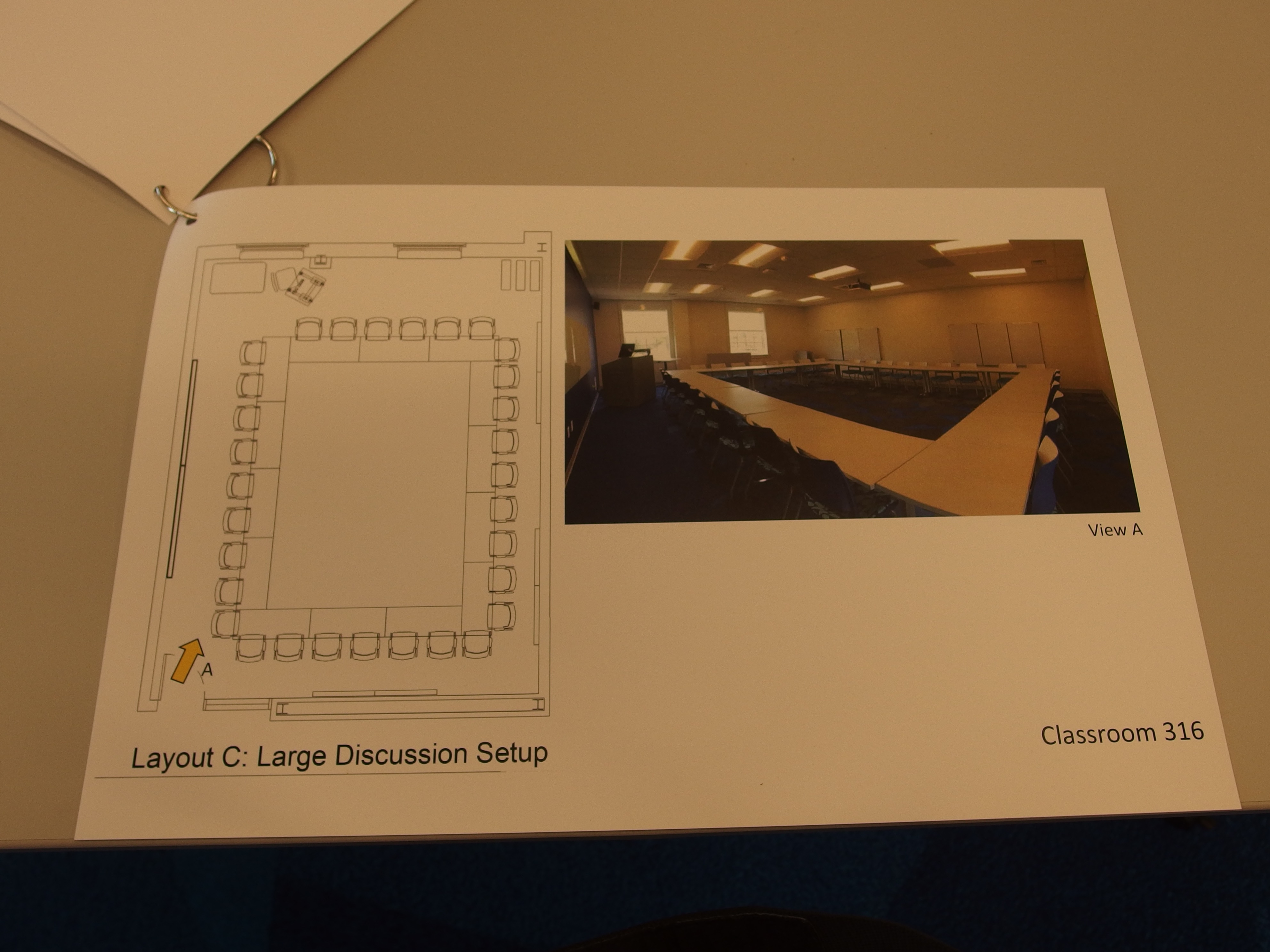 A photo of the optional room layout.