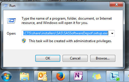 This is an image of the SAS installer file once you've copied and pasted the appropriate information from this step.