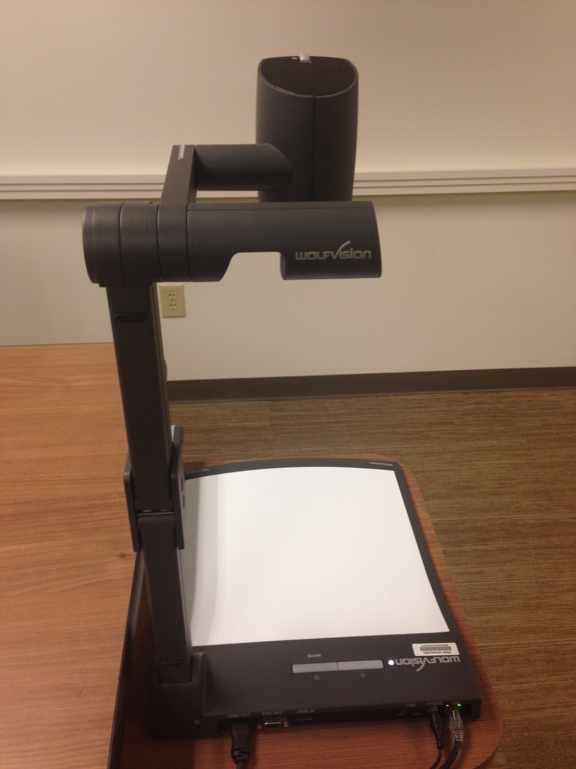 A picture of the WolfVision Document Camera.