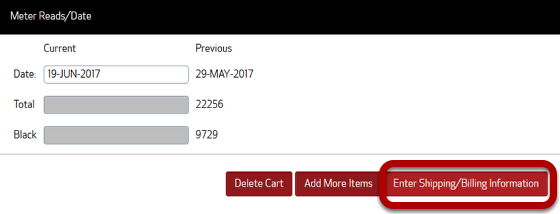The enter shipping/billing information is circled here because that's what you should click next.