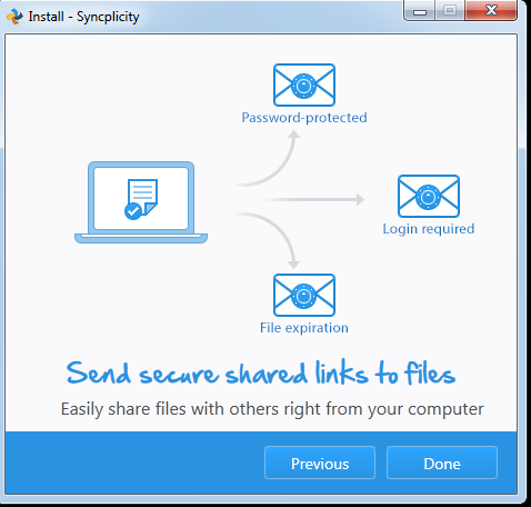 This image mentions that you can send secure shared links to files from your computer.