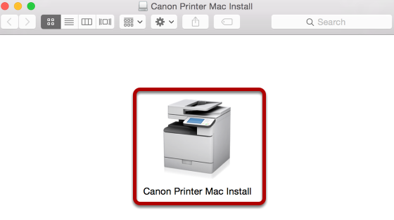 This is an image of the Mac Canon print install DMG.