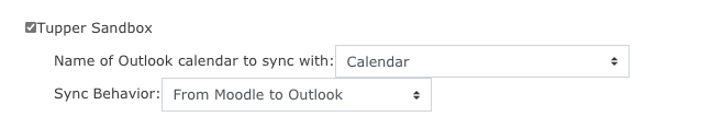 Outlook sync options