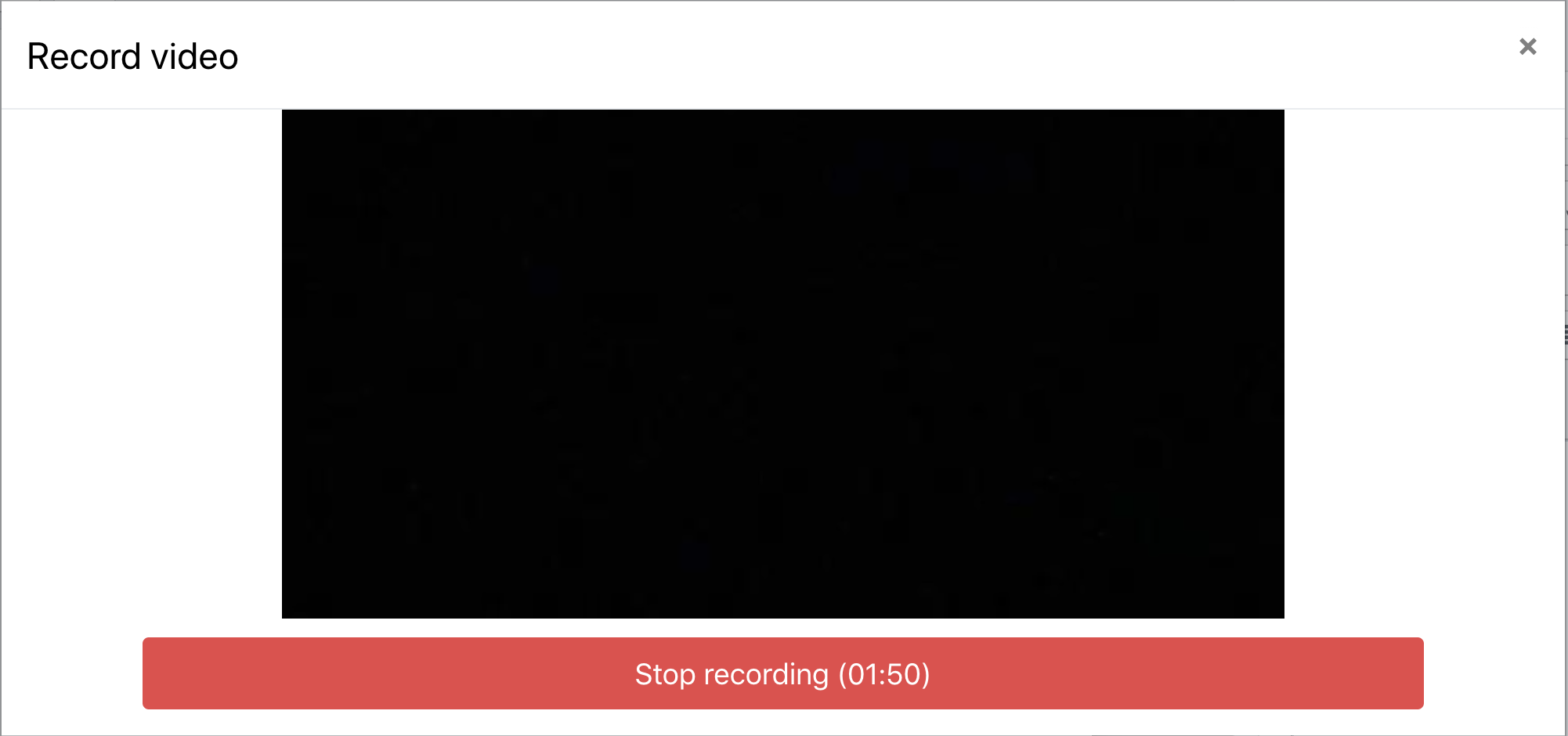 An image of the stop recording button.