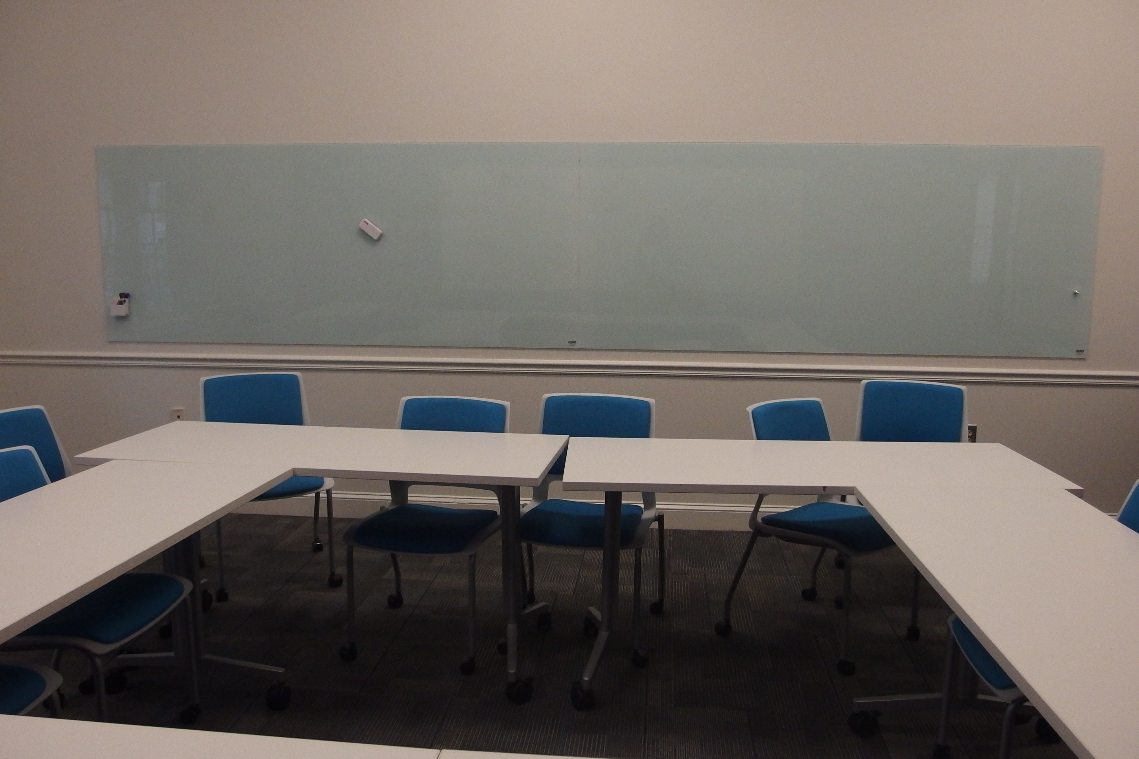A photo of the room from the front.