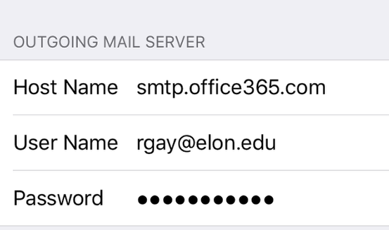 An image of the outgoing email section.
