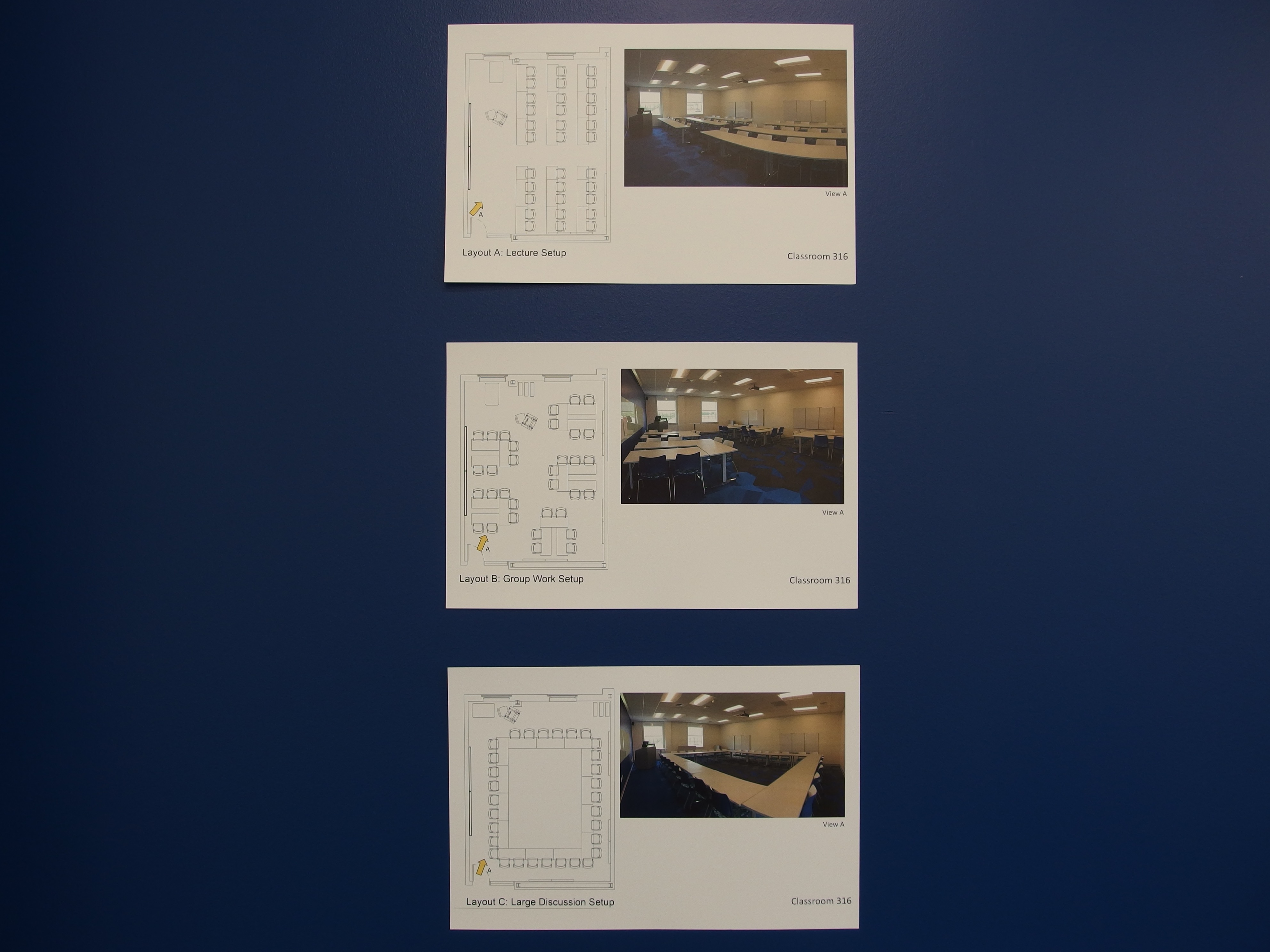 A photo of the available room layout options.