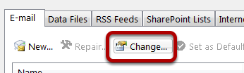 An image of the change button, circled.