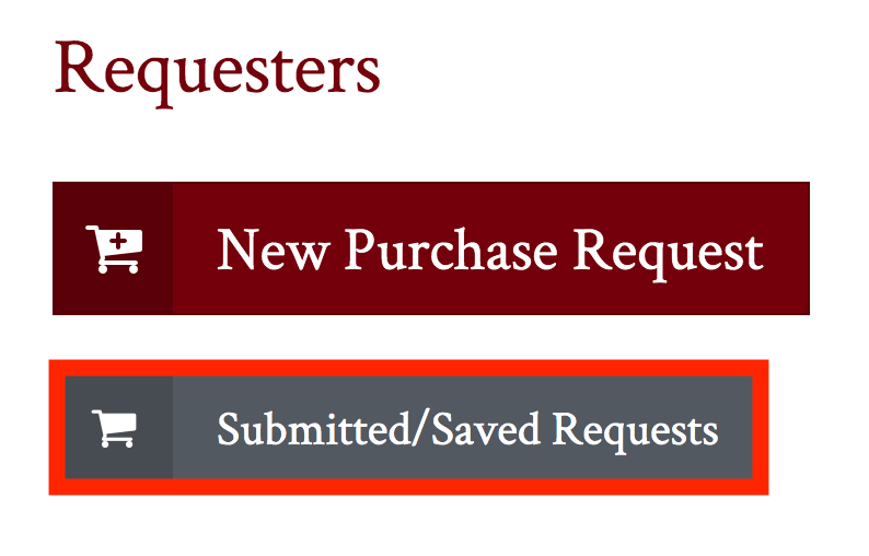 submitted saved requests button highlighted
