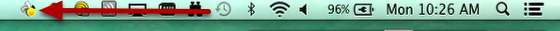 This image shows the Syncplcity icon in the toolbar.