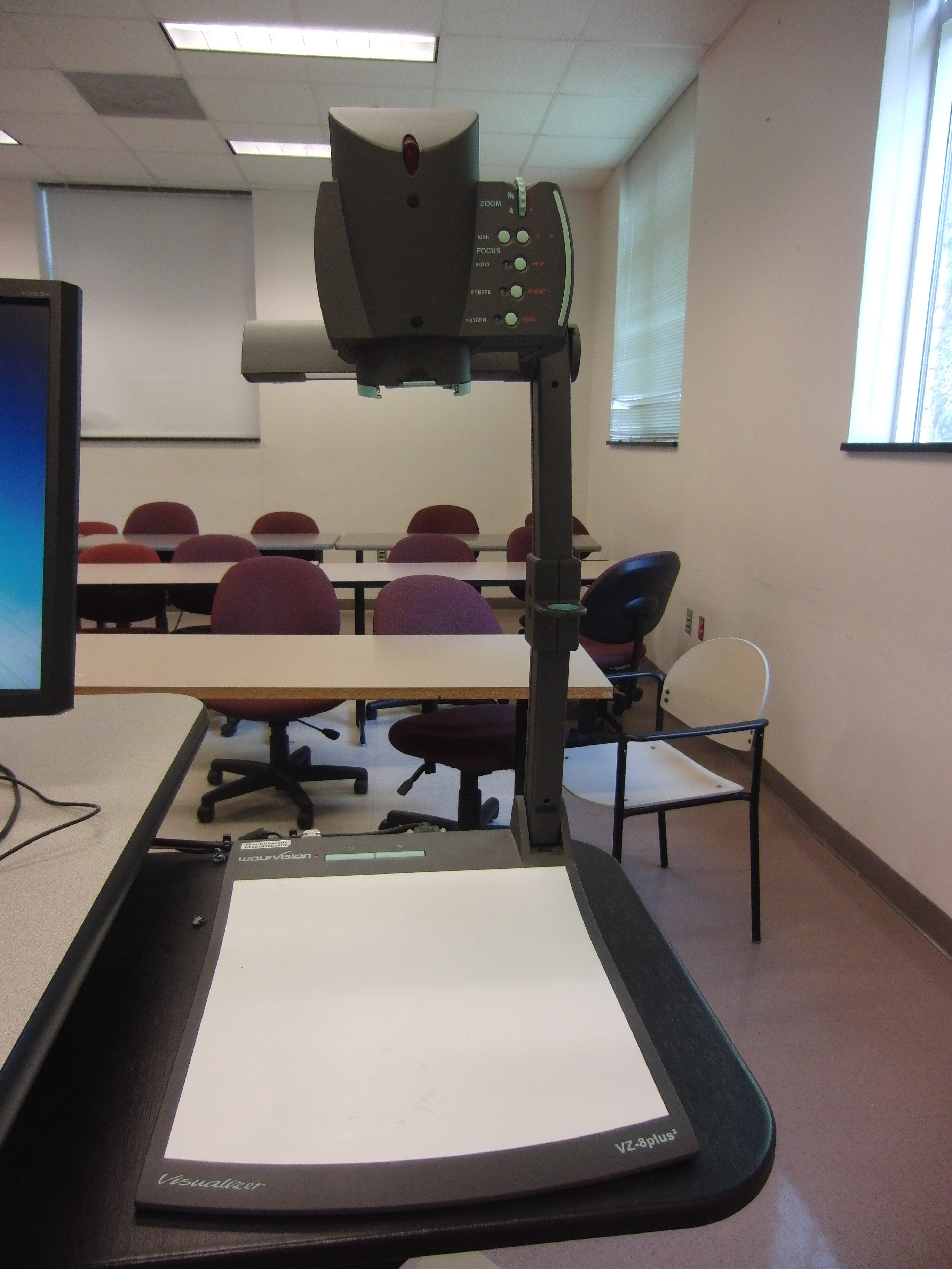 Photo of the document camera available at the instructor's station