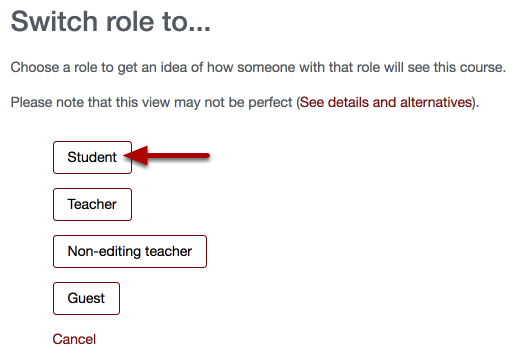 An image of switching roles, with an arrow pointing to student.
