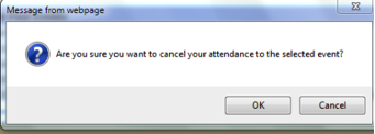 Image of cancel confirmation message