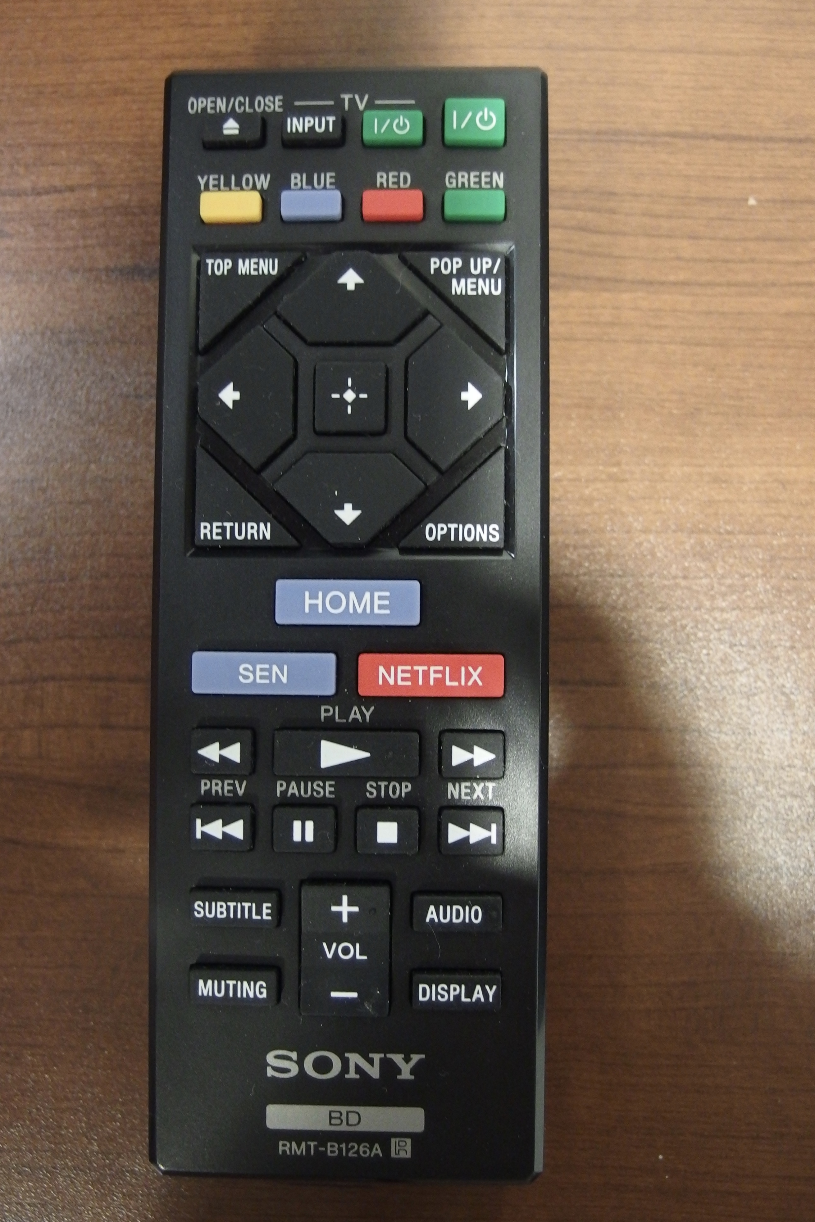 Photo of remote for blue ray player