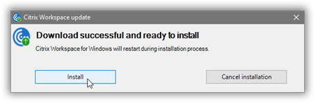 Image of install prompt.